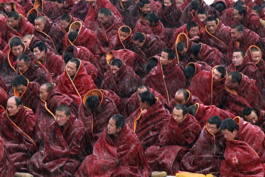 Jour de prière au monastère de Labrang