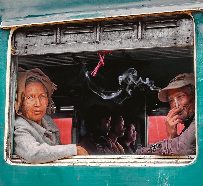 Carnet de voyage : le train entre Shwe et Kalaw en Birmanie