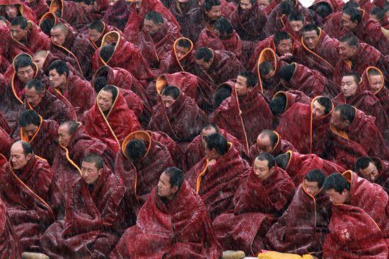 Tirage d'art photographie : La grande prière par Thérèse Bodet, Monastère de Labrang, Amdo, Tibet