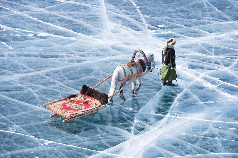 Carnet de voyage : Jour de fête sur le lac gelé, Mongolie