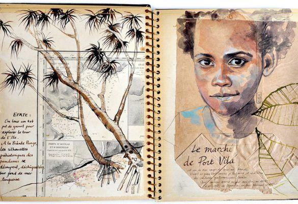 carnettiste : Stéphanie Ledoux - vanuatu - bouts du monde