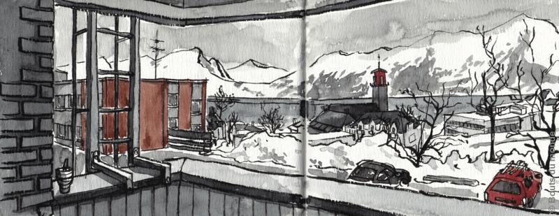 Carnettiste : cécilia Pepper - Norvège - bouts du monde