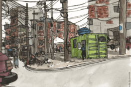 Favelas, avec vue sur la plage