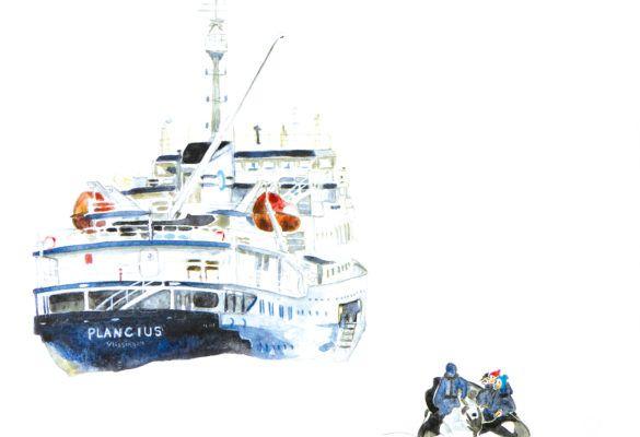 Carnet dessiné : les mœurs des scientifiques à l'approches des icebergs, Gisèle Lesplingard, Antarctique