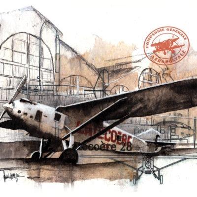 avion Latécoère par Vivi Navarro - aviation - Bouts du monde