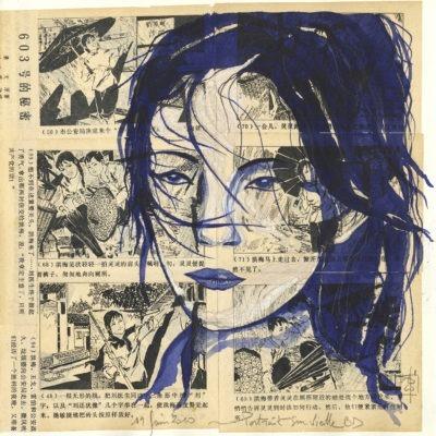 Shanghai BD : tirage d'art dessin de Nicolas Roux, Shanghai, Chine - Bouts du monde