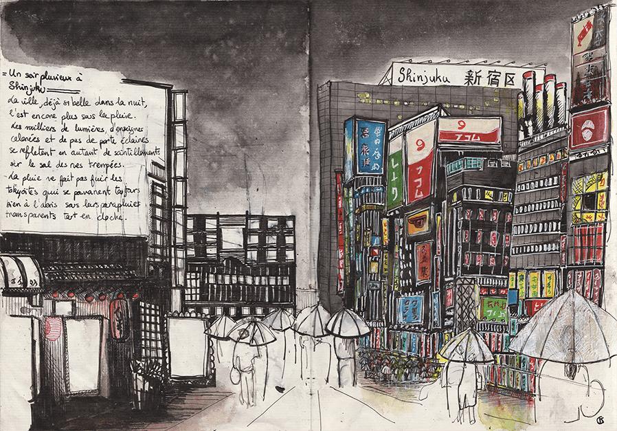 Les enseignes lumineuses du quartier de Shinjuku à Tokyo