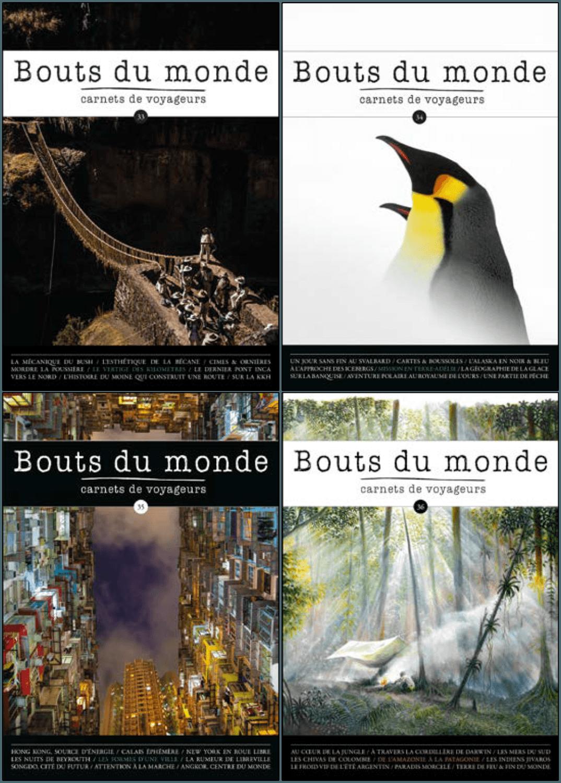 collection 2018 revue Bouts du monde n°33,n°34,n°35, etn°36