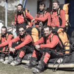 Le groupe militaire de haute montagne après sa traversée de la cordillère de Darwin en 2011.