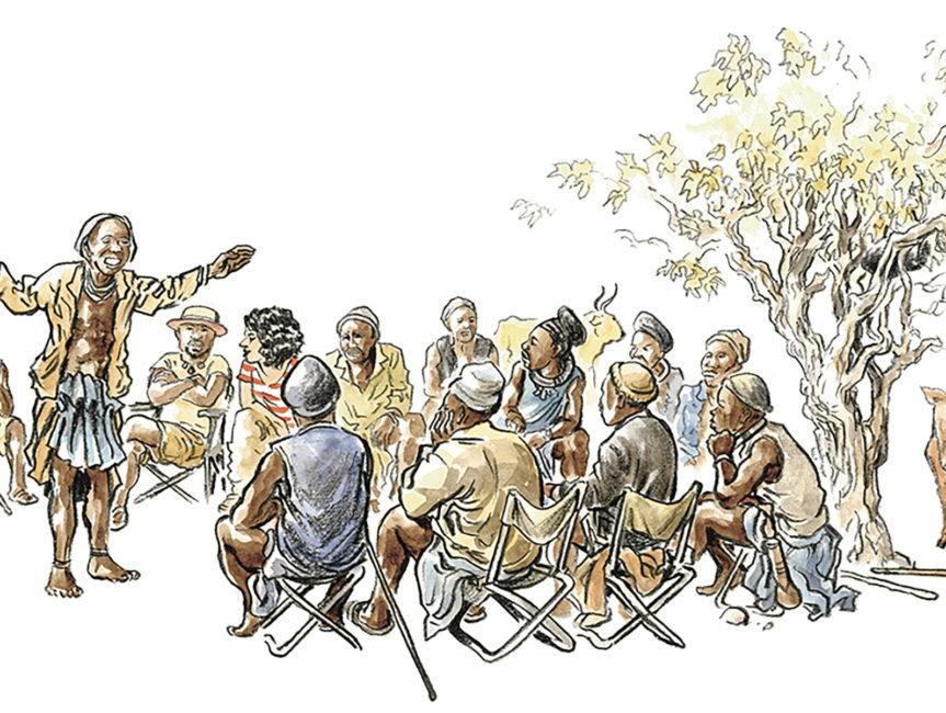 Réunion de famille chez les Himbas