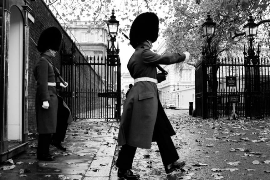 London laughing